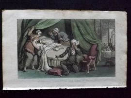 Rowlandson Doctor Syntax 1820 HCol Print. Syntax Lamenting the Loss of his Wife